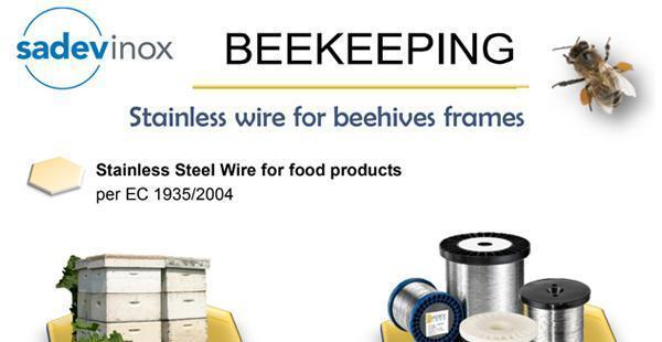 STAINLESS WIRE FOR BEEHIVES FRAMES
